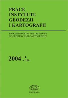 Prace Instytutu Geodezji i Kartografii 2004 z. 106 - wprowadzenie