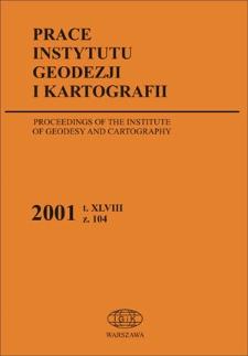 Prace Instytutu Geodezji i Kartografii 2001 z. 104 - wprowadzenie