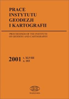 Prace Instytutu Geodezji i Kartografii 2001 z. 103 - wprowadzenie