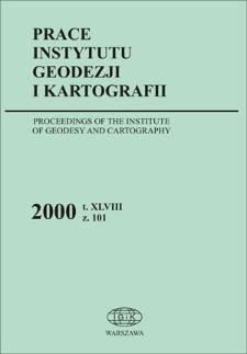 Prace Instytutu Geodezji i Kartografii 2000 z. 101 - wprowadzenie