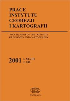 Prace Instytutu Geodezji i Kartografii 2001 z. 102 - wprowadzenie
