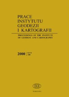 Prace Instytutu Geodezji i Kartografii 2000 z. 100 - wprowadzenie