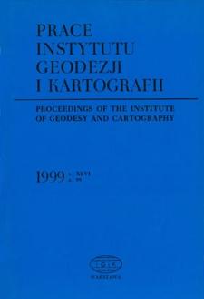 Prace Instytutu Geodezji i Kartografii 1999 z. 99 - wprowadzenie