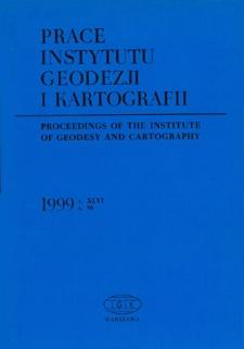 Prace Instytutu Geodezji i Kartografii 1999 z. 98 - wprowadzenie