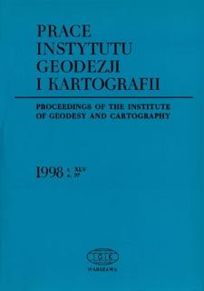 Prace Instytutu Geodezji i Kartografii 1998 z. 97 - wprowadzenie
