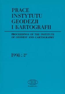 Prace Instytutu Geodezji i Kartografii 1998 z. 96 - wprowadzenie