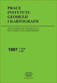 Prace Instytutu Geodezji i Kartografii 1997 z. 95 - wprowadzenie