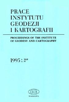 Prace Instytutu Geodezji i Kartografii 1995 z. 92 - wprowadzenie