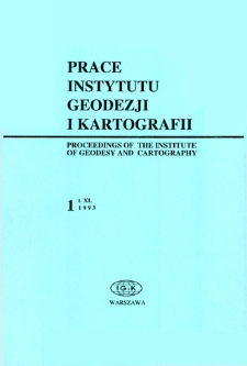 Prace Instytutu Geodezji i Kartografii 1993 t. 40 z.1 (88) - wprowadzenie
