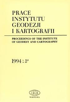 Prace Instytutu Geodezji i Kartografii 1994 z. 89 - wprowadzenie