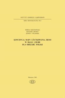 Koncepcja mapy użytkowania ziemi w skali 1:50000 dla obszaru Polski