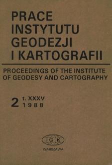 Prace Instytutu Geodezji i Kartografii 1988 z. 2(81) - wprowadzenie
