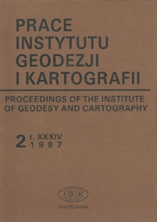 Prace Instytutu Geodezji i Kartografii 1987 z. 2(79) - wprowadzenie