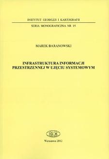 Infrastruktura informacji przestrzennej w ujęciu systemowym