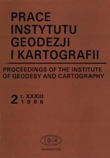 Prace Instytutu Geodezji i Kartografii 1986 z. 2(77) - wprowadzenie
