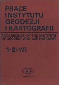 Prace Instytutu Geodezji i Kartografii 1985 t. 32 z. 1-2 (74-75) - wprowadzenie