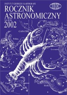 Rocznik Astronomiczny na rok 2002