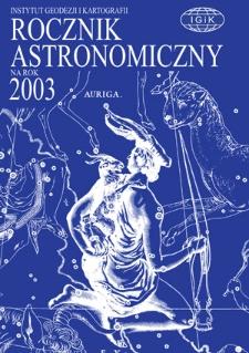Rocznik Astronomiczny na rok 2003