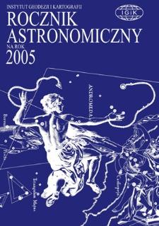 Rocznik Astronomiczny na rok 2005