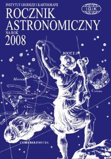 Rocznik Astronomiczny na rok 2008