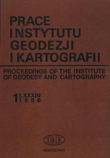 Prace Instytutu Geodezji i Kartografii 1986 z. 1(76) - wprowadzenie