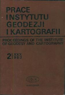 Prace Instytutu Geodezji i Kartografii 1983 t. 30 z. 2 (72) - wprowadzenie