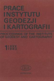 Prace Instytutu Geodezji i Kartografii 1983 t. 30 z. 1 (71) - wprowadzenie