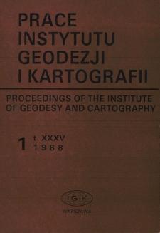 Prace Instytutu Geodezji i Kartografii 1988 z. 1(80) - wprowadzenie