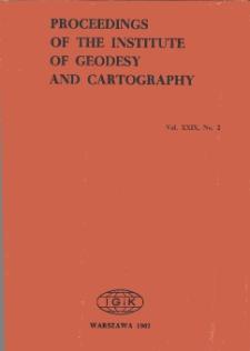 Prace Instytutu Geodezji i Kartografii 1982 t. 29 z. 2 (70) - wprowadzenie