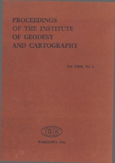 Proceedings of the Institute of Geodesy and Cartography 1982 Vol. 29 No 1 (69) - introduction