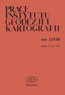 Prace Instytutu Geodezji i Kartografii 1981 t. 28 z.1 (67) - wprowadzenie