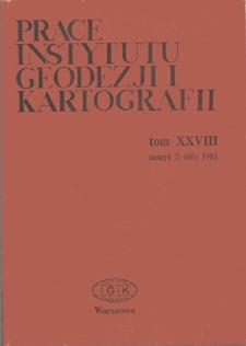 Prace Instytutu Geodezji i Kartografii 1981 t. 28 z.2 (68) - wprowadzenie