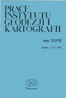 Prace Instytutu Geodezji i Kartografii 1980 z. 2(65) - wprowadzenie