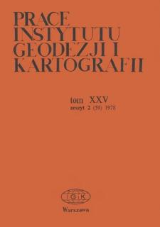Prace Instytutu Geodezji i Kartografii 1978 t.. 25 z. 2(59) - wprowadzenie