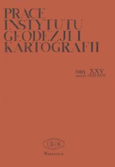Prace Instytutu Geodezji i Kartografii 1978 t. 25 z. 1(58) - wprowadzenie