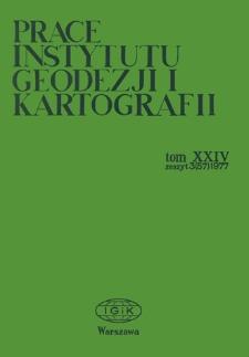 Prace Instytutu Geodezji i Kartografii 1977 t. 24 z. 3(57) - wprowadzenie