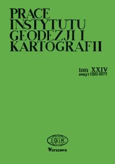 Prace Instytutu Geodezji i Kartografii 1977 t. 24 z. 1(55) - wprowadzenie