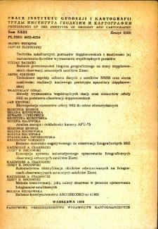 Prace Instytutu Geodezji i Kartografii 1976, t. 23, z. 2(53) - wprowadzenie