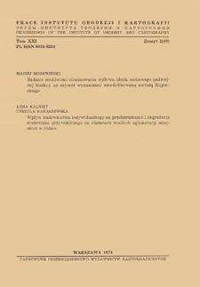 Prace Instytutu Geodezji i Kartografii 1974 t. 21 z. 2(49) - wprowadzenie