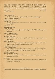 Prace Instytutu Geodezji i Kartografii 1974 t. 21 z. 1(48) - wprowadzenie