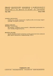 Prace Instytutu Geodezji i Kartografii 1972 t. 19 z. 2(45) - wprowadzenie