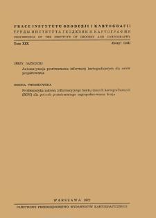 Prace Instytutu Geodezji i Kartografii 1972 t. 19 z. 1(44) - wprowadzenie
