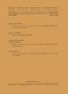 Prace Instytutu Geodezji i Kartografii 1971 t. 18 z. 1(42) - wprowadzenie