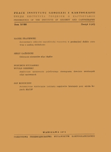 Analityczne opracowanie pojedynczego stereogramu dowolnie zwróconych zdjęć naziemnych