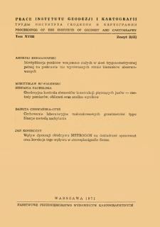 Prace Instytutu Geodezji i Kartografii 1971 t. 18 z. 2(43) - wprowadzenie