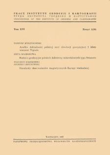 Prace Instytutu Geodezji i Kartografii 1969 t.16 z. 3(39) - wprowadzenie