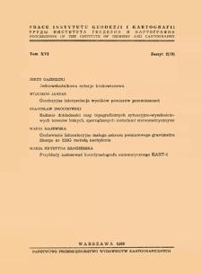 Prace Instytutu Geodezji i Kartografii 1969 t.16 z. 2(38) - wprowadzenie