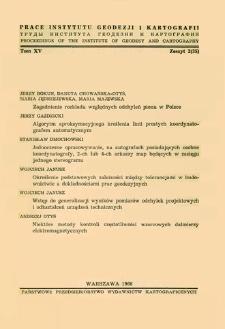 Zagadnienie rozkładu względnych odchyleń pionu w Polsce