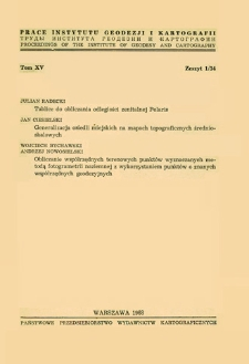 Prace Instytutu Geodezji i Kartografii 1968 t.15 z. 1(34) - wprowadzenie