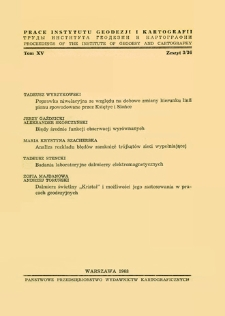 Prace Instytutu Geodezji i Kartografii 1968 t.15 z. 3(36) - wprowadzenie